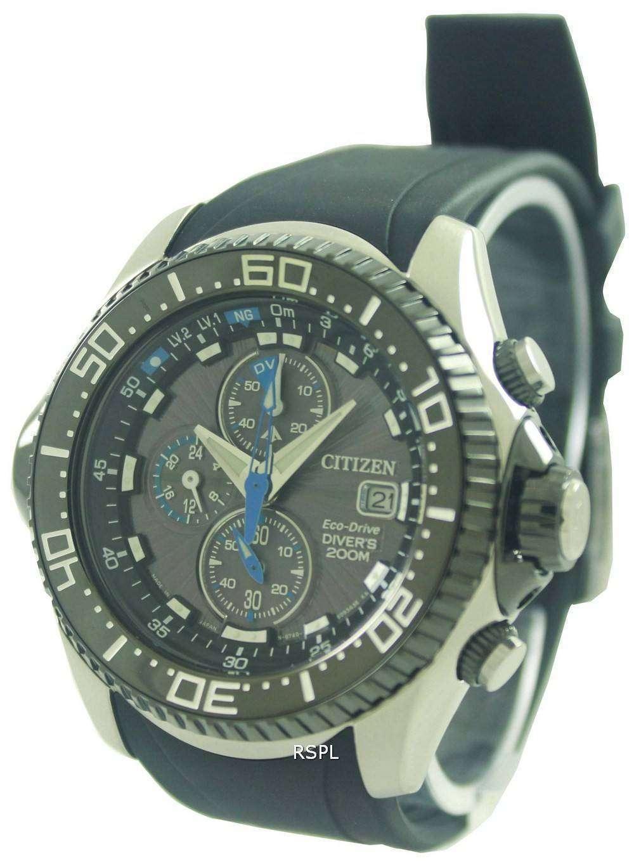 985aad53a47 Citizen Promaster Eco Drive Aqualand Chronograph Divers Watch BJ2110-01E  BJ2110-01 BJ2110
