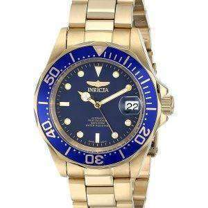 Invicta Pro Diver 200M Gold Tone Blue Dial INV8930/8930 Mens Watch
