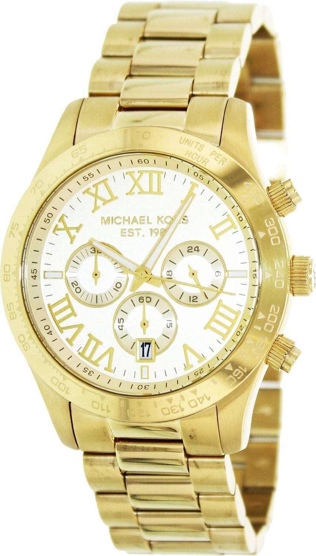 michael kors layton chronograph gold tone mk8214 mens