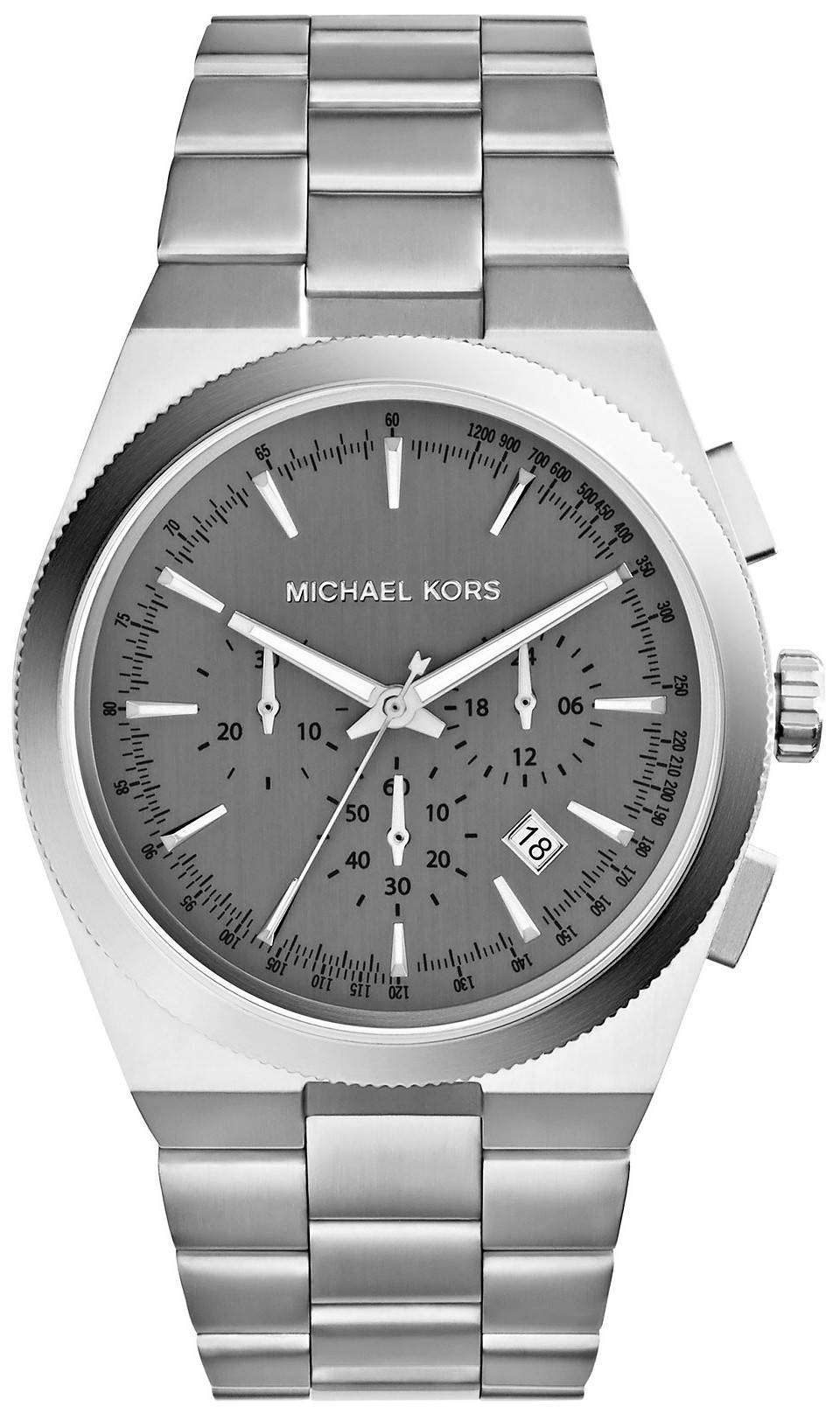 michael kors channing chronograph grey mk8337 mens