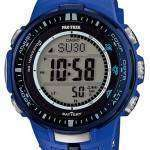 Casio Protrek Atomic Tough Solar Triple Sensor Blue PRW-3000-2B Mens Watch