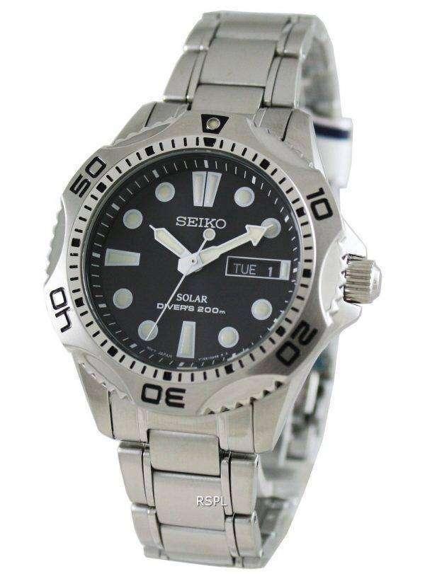 Seiko Solar Mens Scuba Divers Sports Watch SNE107P1