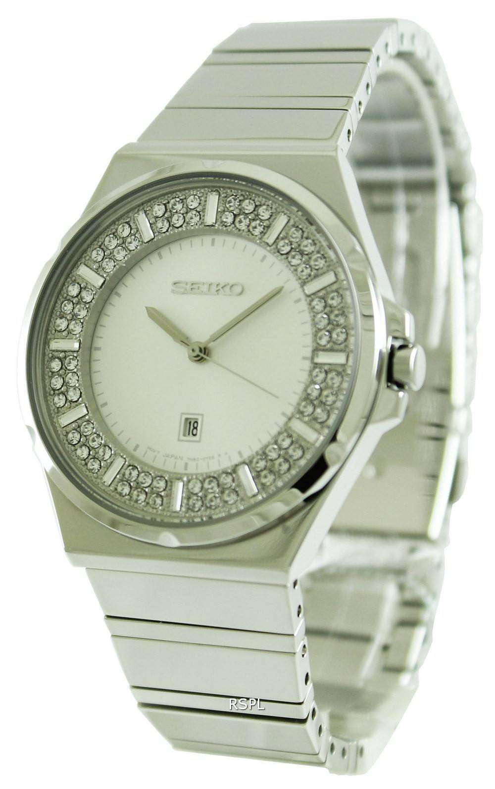 Seiko quartz crystal set dial sxdf71p1 sxdf71p womens watch for Crystal watches