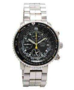 Seiko Alarm Chronograph Pilots Flightmaster SNA411P1 Watch