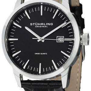 Stuhrling Original Classic Ascot 42 Swiss Quartz Date Display 555A.01 Mens Watch