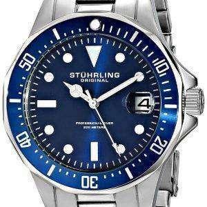 Stuhrling Original Aquadiver 200M Quartz Date 664.02 Mens Watch