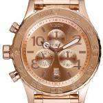 Nixon Quartz Chronograph Rose Gold-Plated 200M A037-897-00 Mens Watch