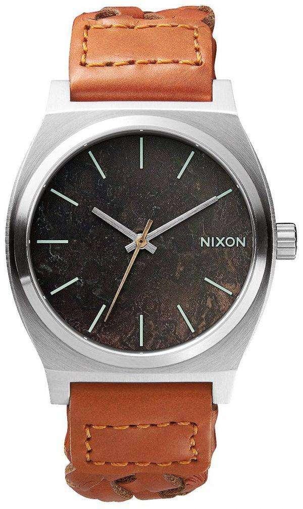 Nixon Time Teller Dark Copper Saddle Woven A045-1959-00 Mens Watch