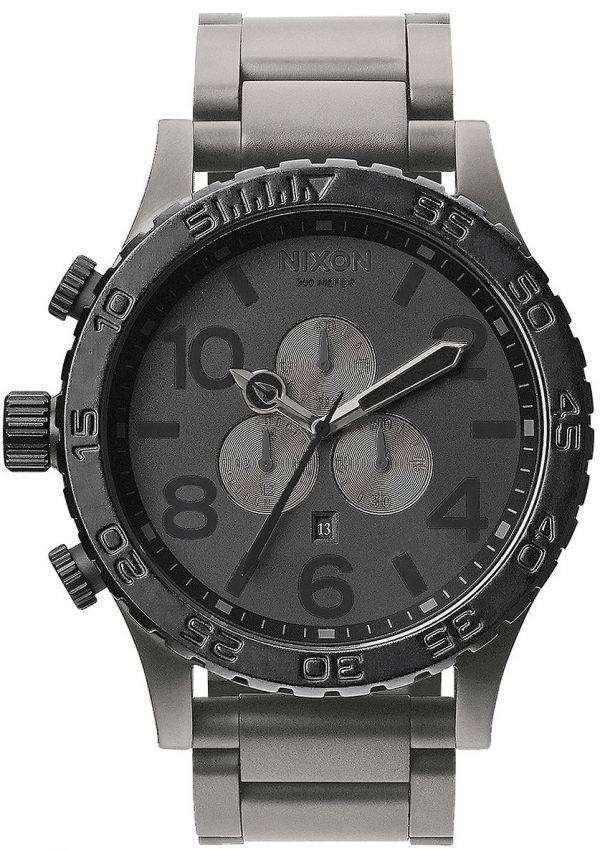 Nixon Matte BlackMatte Gunmetal Chronograph 300M A083-1062-00 Mens Watch