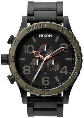Nixon Matte Black Industrial Green Chronograph 300M A083-1530-00 Men's Watch