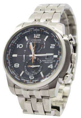 Citizen Eco-Drive Atomic Radio Controlled World Time AT9010-52E Men's Watch 1