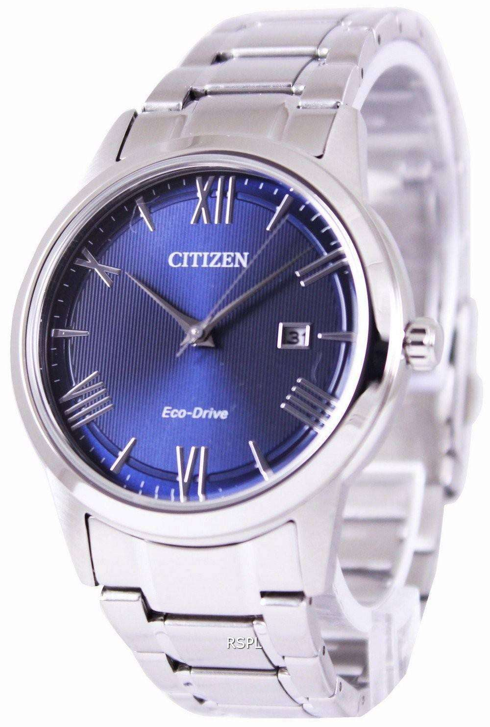 Citizen Eco-Drive Blue Dial AW1231-58L Mens Watch ...