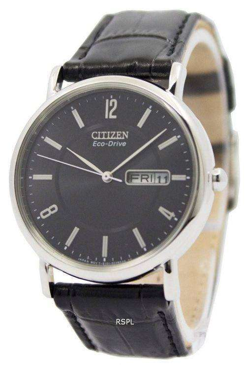 Citizen Eco-Drive Black Leather Strap BM8240-03E Men's Watch