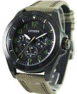 Citizen Eco-Drive Khaki Black IP BU2035-05E Mens Watch