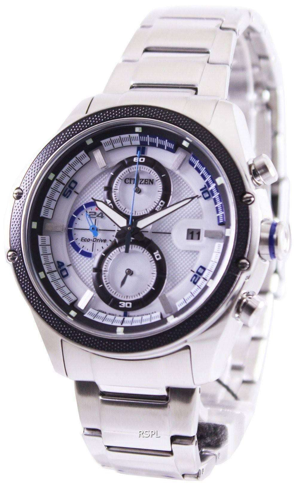 citizen eco drive chronograph ca0120 51a mens