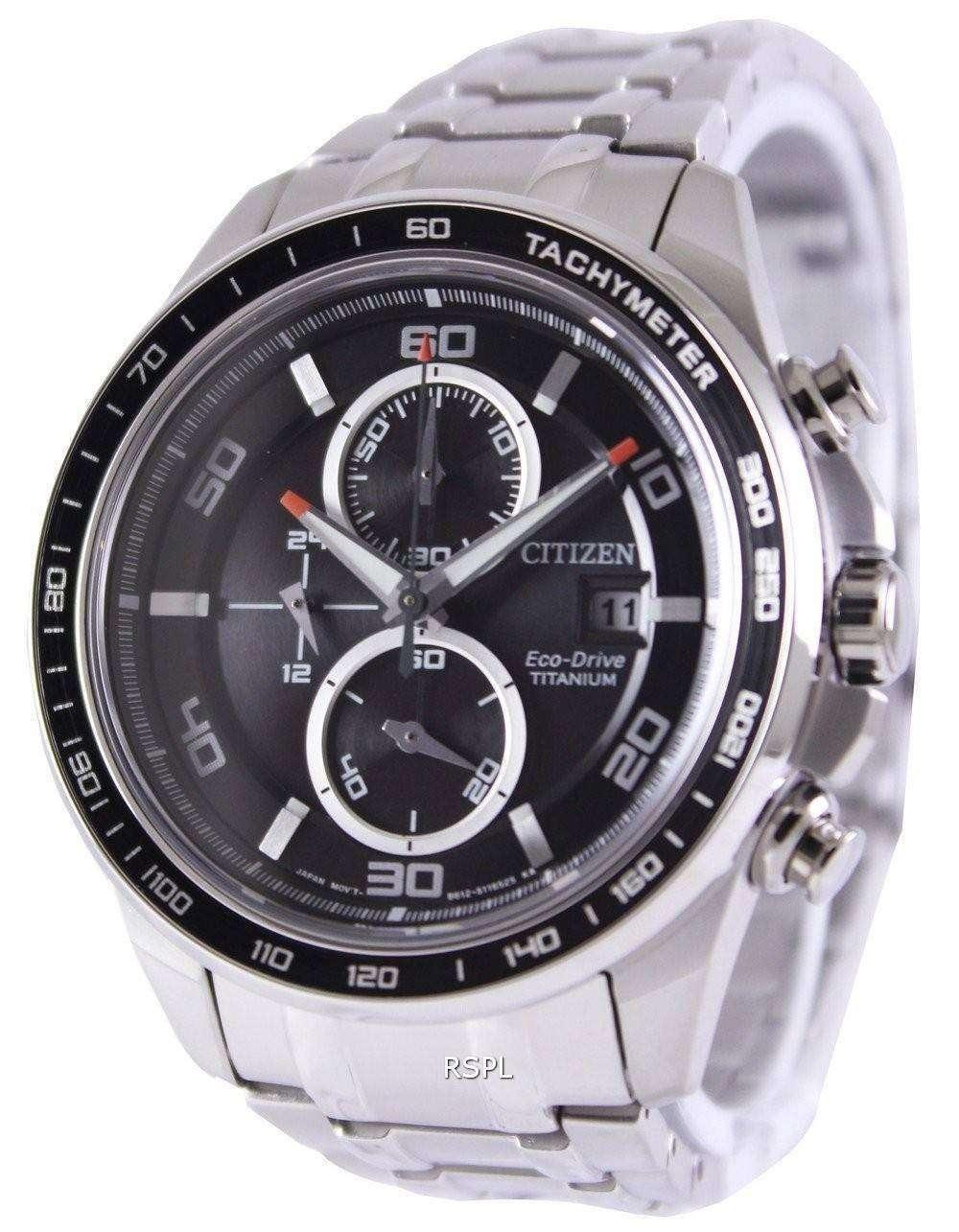 Citizen Eco Drive Titanium Chronograph CA0340-55E Watch ...