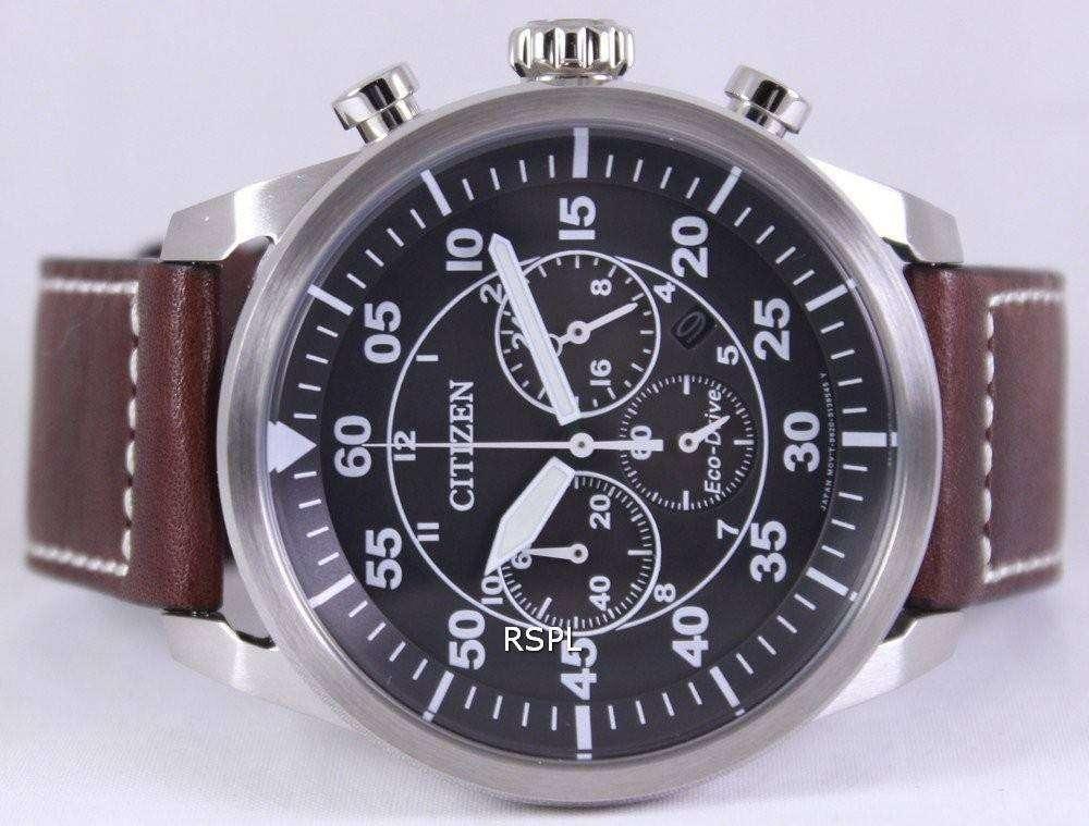 Citizen Eco-Drive Aviator Chronograph CA4210-16E Mens Watch ... 76a5c257d9ec