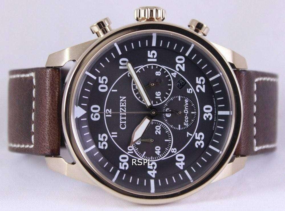 cb172667d Citizen Eco-Drive Aviator Chronograph CA4213-00E Mens Watch ...