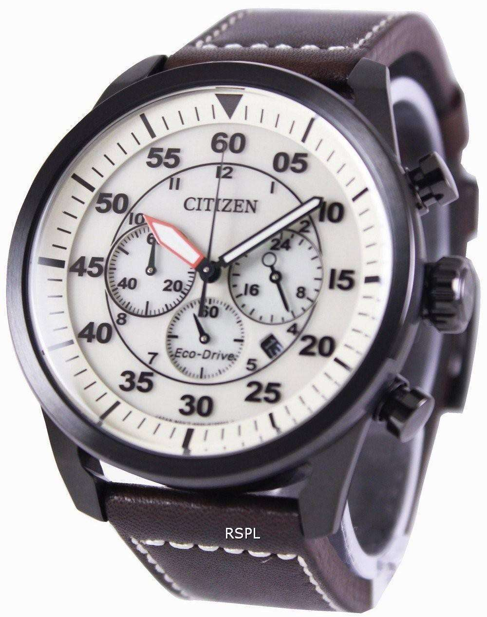 reputable site 1f067 069d2 Citizen Eco-Drive Aviator Chronograph CA4215-04W Mens Watch