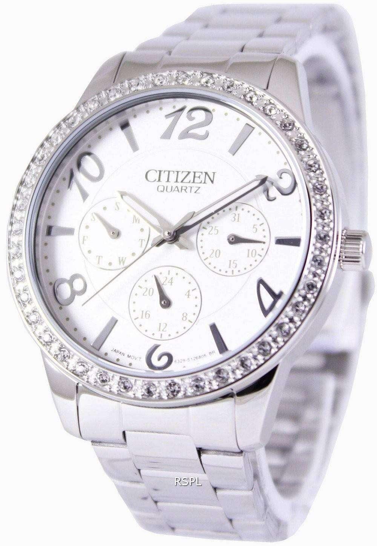 Citizen quartz swarovski crystals ed8120 54a womens watch for Swarovski crystals watch