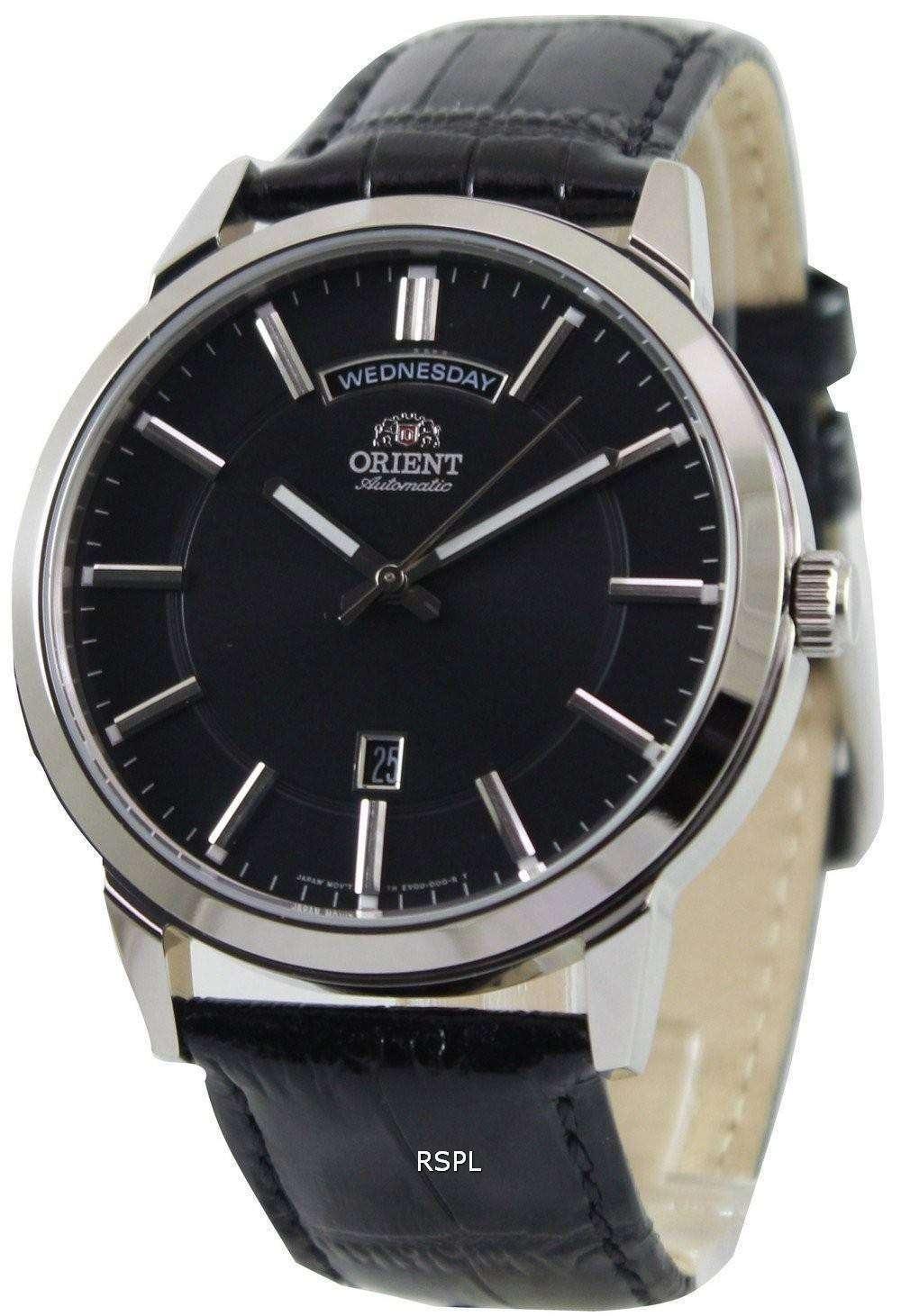 orient classic automatic black dial fev0u003b mens watch. Black Bedroom Furniture Sets. Home Design Ideas