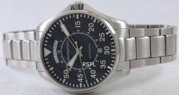 Hamilton Pilot Day Date Aviation Automatic H64615135 Mens Watch
