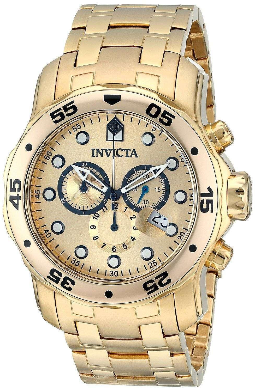 6177e0838dd Invicta pro diver chronograph gold dial inv mens watch jpg 977x1500 Invicta  watches pro diver gold