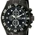 Invicta Specialty Chronograph Black Dial IP Stainless Steel 15945 Men's Watch
