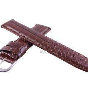 Brown Ratio Brand Leather Strap 20mm For SKX007, SKX009, SKX011, SRP497, SRP641