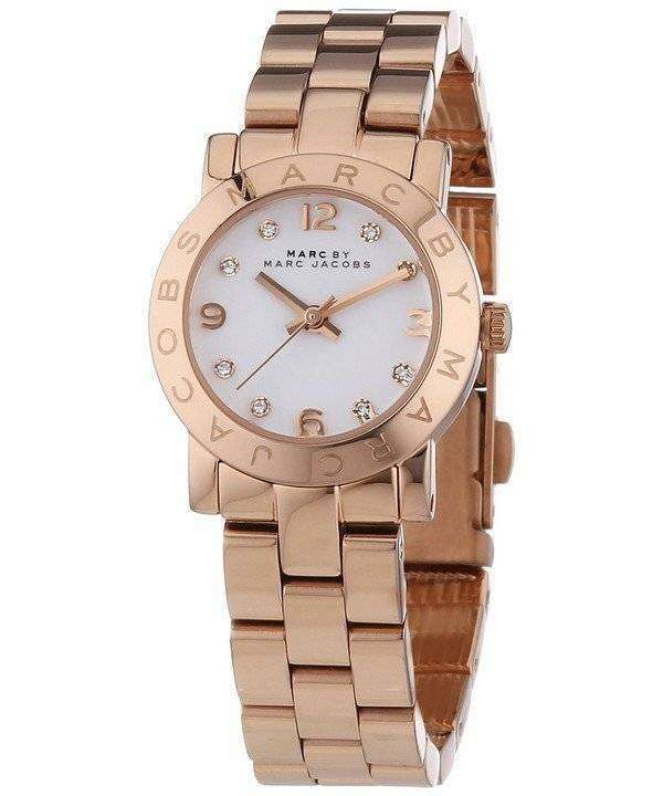 marc by marc jacobs mini amy quartz white dial rose gold tone mbm3078 womens watch citywatches. Black Bedroom Furniture Sets. Home Design Ideas