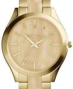 Michael Kors Runway Gold Tone Horn Dial MK4285 Womens Watch