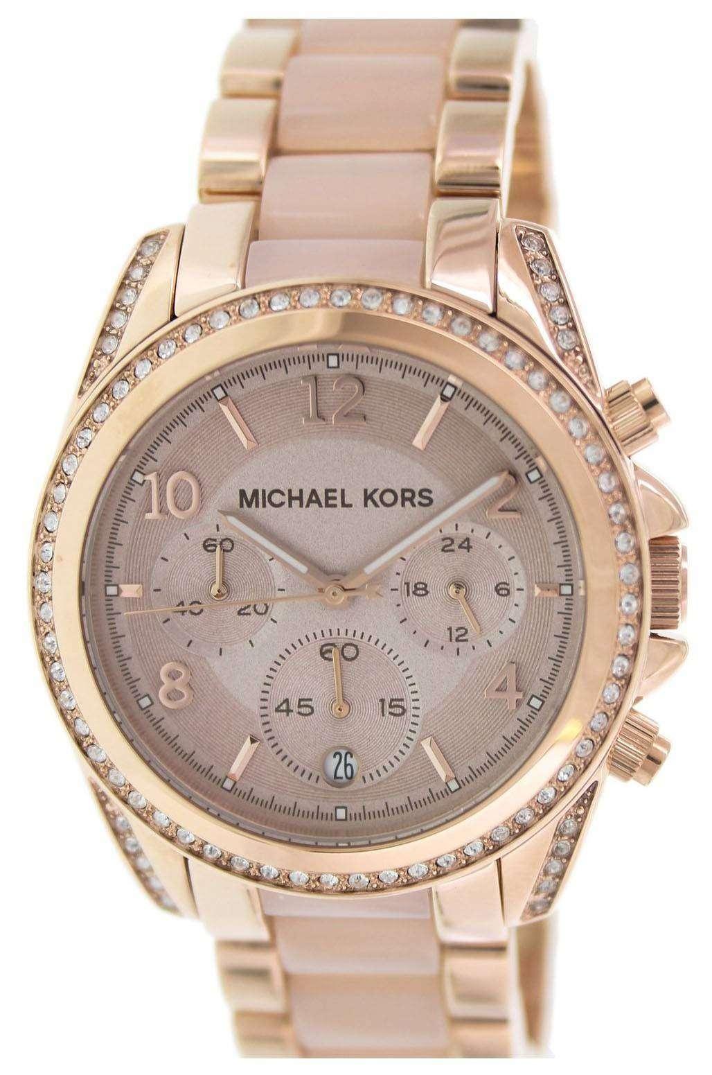 8d519660c60 Michael Kors Blair Chronograph Crystals MK5943 Womens Watch ...
