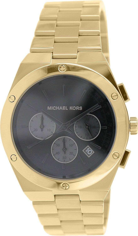 6543cbdc3efe Michael Kors Reagan Chronograph Black Dial MK6078 Womens Watch ...