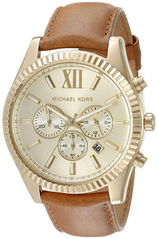 d5920cab440 Michael Kors Lexington Chronograph Gold Dial MK8447 Mens Watch ...