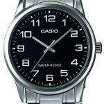 Casio Analog Stainless Steel Black Dial MTP-V002D-1AUDF MTP-V002D-1AU Mens Watch