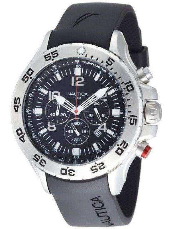 Nautica Black NST Chronograph N14536G Mens Watch