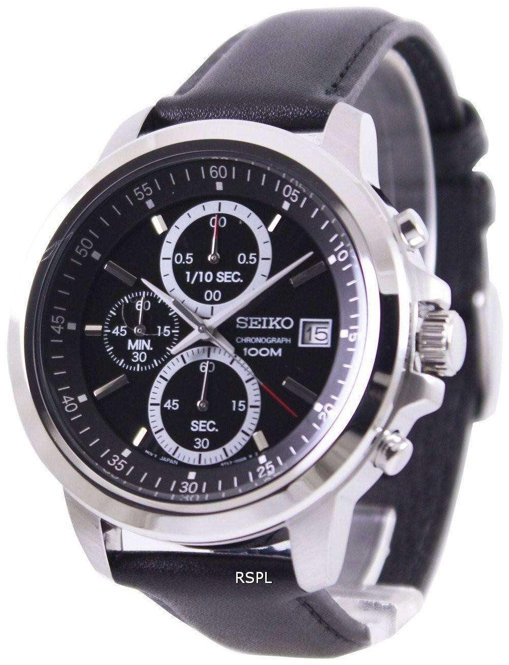 seiko chronograph 100m black sks445p2 mens