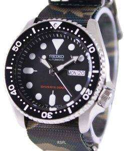 Seiko Automatic Divers 200M Army NATO Strap SKX007K1-NATO5 Mens Watch