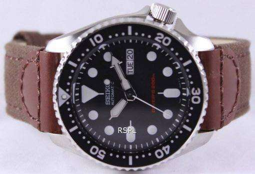Seiko Automatic Divers Canvas Strap SKX007K1-NS1 200M Mens Watch