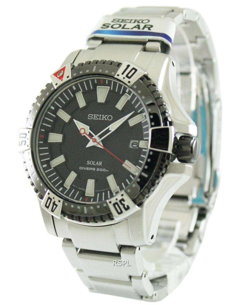 Seiko Solar Diver's SNE295P1 SNE295P SNE295 Mens Watch