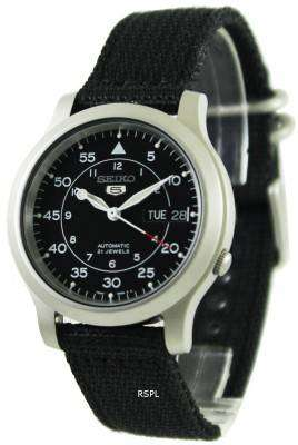 Seiko Automatic Military Nylon Mens Watch SNK809K2 1