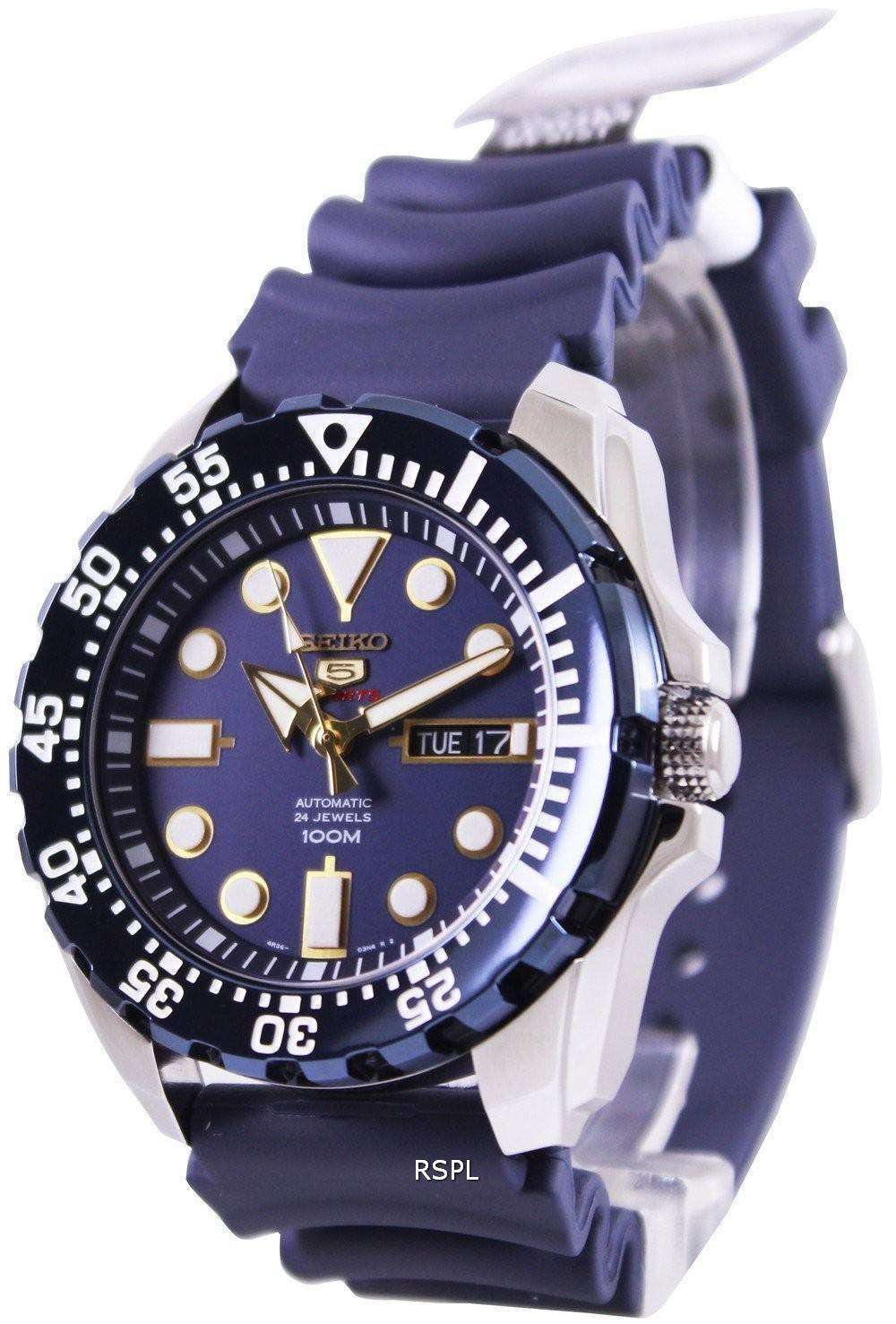 seiko 5 sports automatic 24 jewels srp605k2 mens watch