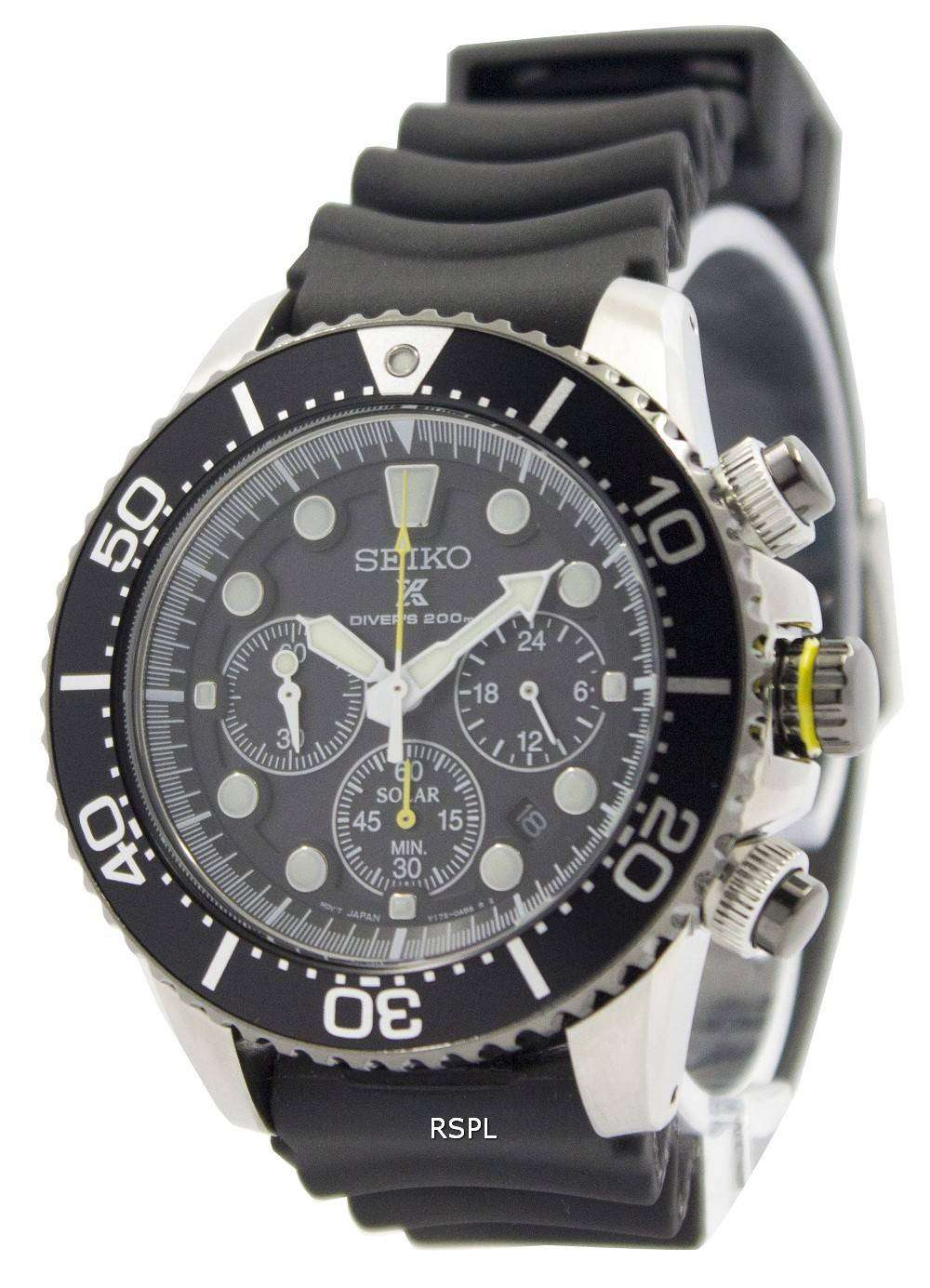 seiko solar chronograph ssc021p1 mens watch citywatches. Black Bedroom Furniture Sets. Home Design Ideas