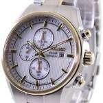 Seiko Solar Titanium Chronograph SSC368P1 SSC368P Mens Watch