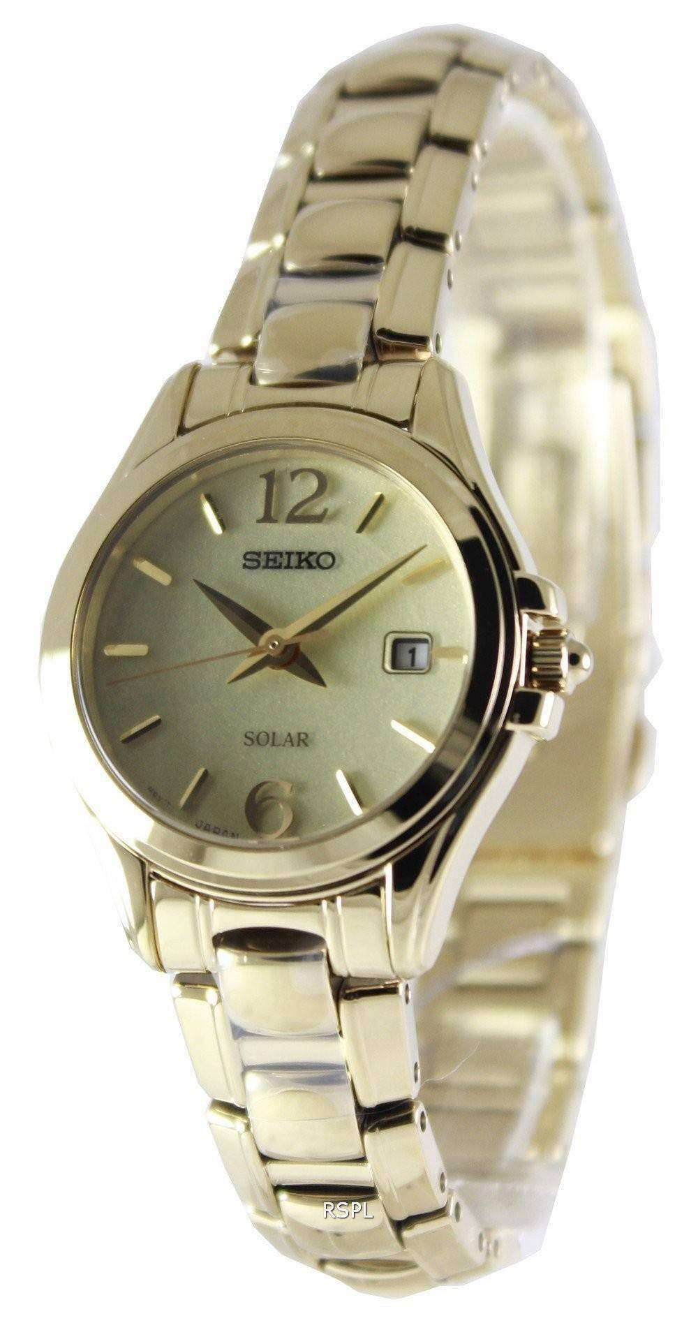 Seiko solar power reserve sut236p1 sut236p women 39 s watch for Solar power watches