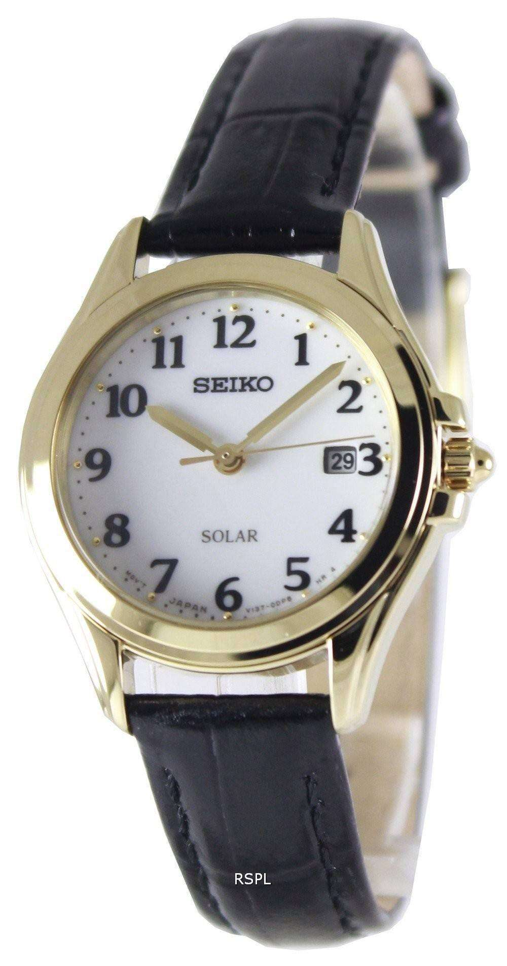 Seiko solar power reserve sut238p1 sut238p women 39 s watch for Solar power watches