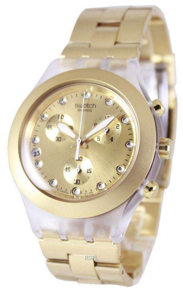 Swatch Irony Diaphane Full-Blooded Chronograph SVCK4032G Unisex Watch