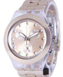 Swatch Irony Diaphane Full-Blooded Caramel Chronograph SVCK4047AG Unisex Watch