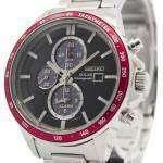 Seiko Solar Chronograph Alarm SSC433P1 SSC433P Men's Watch