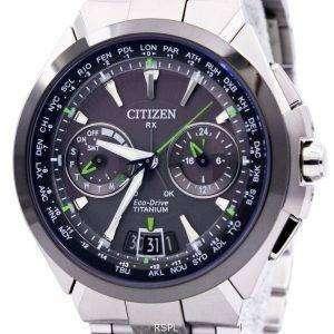Citizen Eco-Drive Attesa Titanium Satellite Wave Air GPS 100M CC1086-50E Mens Watch
